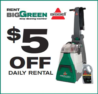 New 5 00 Off Bissell Carpet Cleaner Rental Coupon