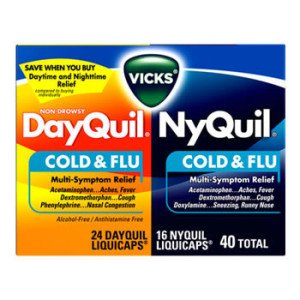 Dec 02,  · Turn to NyQuil™ Cold & Flu Nighttime Relief LiquiCaps™ to relieve your sneezing, sore throat, headache, minor aches and pains, fever, runny nose, and cough, so you can get the rest you need.