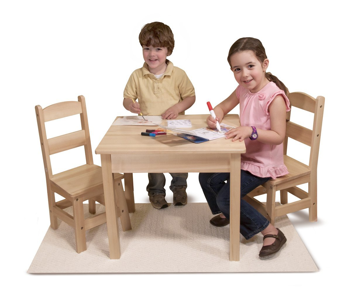 Melissa and doug wooden kids table save 60 for Wooden kids table