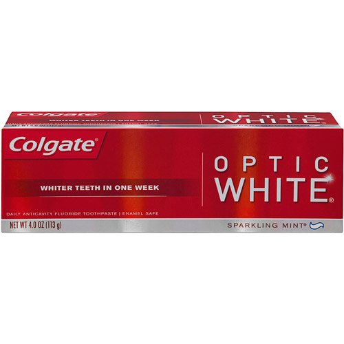 Take whitening to a whole new level with the Colgate Optic White toothbrush plus built in teeth whitening pen. This all-in-one brushing and whitening solution goes beyond surface stains to deeply whiten, giving you 5 shades whiter teeth-starts working in 1 day.