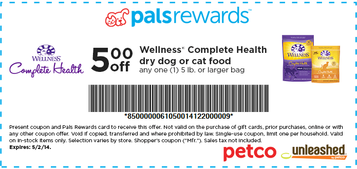 Wellness Dog Food Coupons March