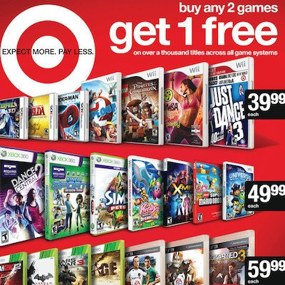 Video game coupons target