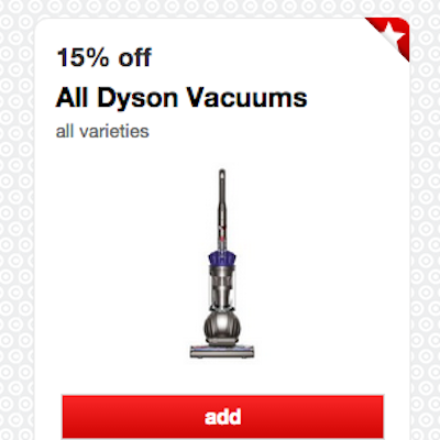 Dyson vacuum coupons at target