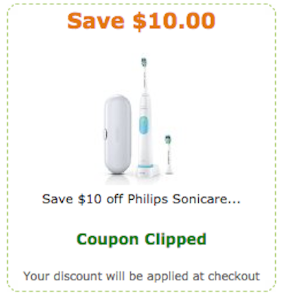 Sonicare toothbrush coupon code