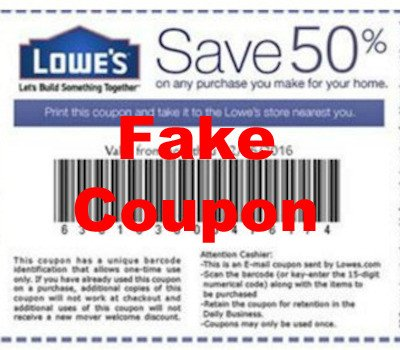 Beware of Fake / Counterfeit Coupons